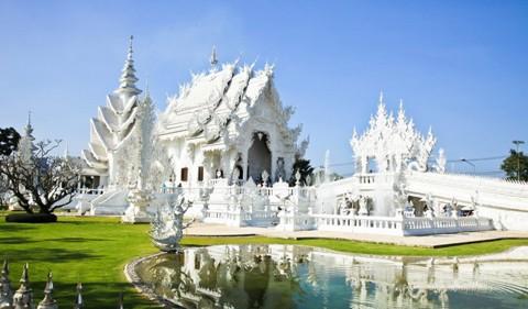 Kết quả hình ảnh cho Chùa trắng ở Pa-O Dan Chai, Chiang Rai. Thái Lan
