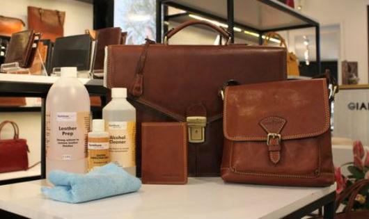 Cách giặt tẩy đồ dùng bằng da