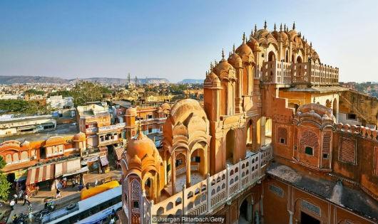 """""""Thành phố Hồng"""" Jaipur - một địa điểm du lịch nổi tiếng."""