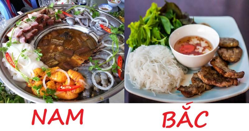 Kết quả hình ảnh cho khác biệt thú vị giữa ẩm thực hai miền Nam Bắc