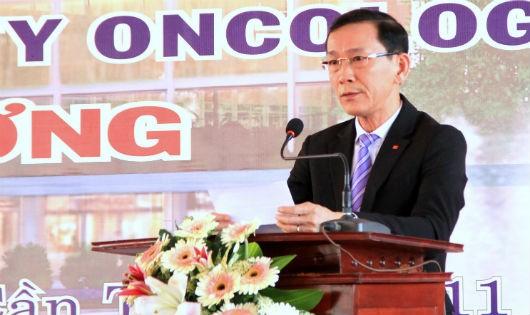 Ông Võ Thành Thống Chủ tịch UBND TP Cần Thơ phát biểu tại buổi khởi công bệnh viện Ung bướu Cần Thơ