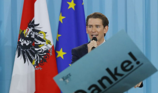 Châu Âu đang rất lo lắng sau sự kiện Ngoại trưởng Sebastian Kurz chiến thắng, chuẩn bị đảm đương chức Thủ tướng Áo