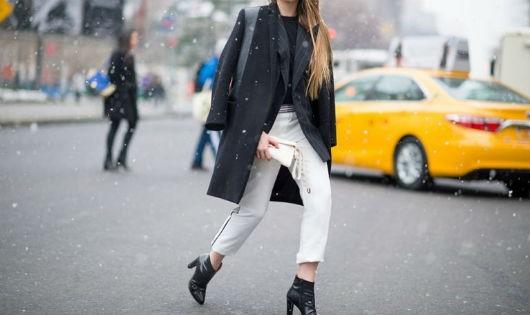 Sành điệu như Fashionista thứ thiệt cùng giày bốt cao gót
