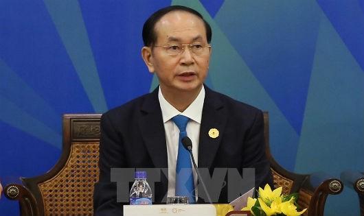 Chủ tịch nước Trần Đại Quang phát biểu tại phiên đối thoại