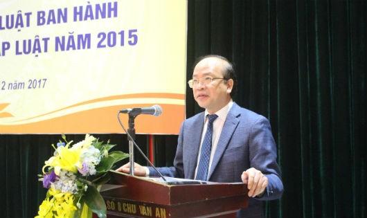 Thứ trưởng Phan Chí Hiếu phát biểu tại Hội thảo