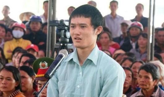 Bị cáo Nguyễn Huỳnh Vũ tại phiên tòa xét xử