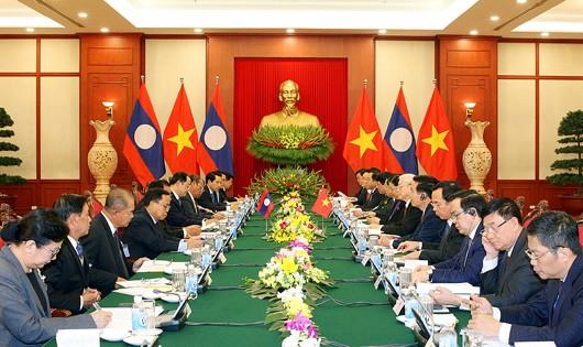 Tổng Bí thư Nguyễn Phú Trọng: Việt Nam ủng hộ Lào trong bất cứ hoàn cảnh nào