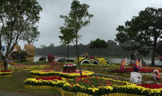 Festival Hoa Đà Lạt vắng cả khách và... hoa