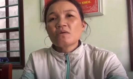 Trần Thị Vy trình báo sự việc với cơ quan công an
