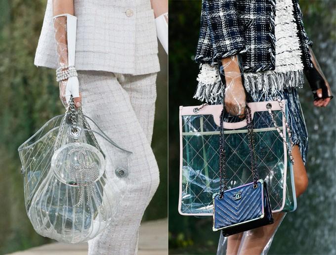 Thời gian gần đây, chất liệu trong suốt trở thành nguồncảm hứng của nhiều nhà mốt. Chanel là một trong những thương hiệu lăng xê mẫu túi này nhiệt tình nhất.