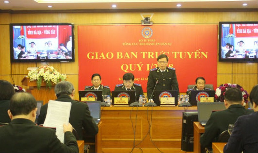 Quyền Tổng cục trưởng Tổng cục THADS Mai Lương Khôi chủ trì cuộc họp