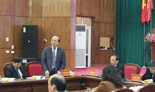 Thứ trưởng Phan Chí Hiếu phát biểu tại Hội nghị
