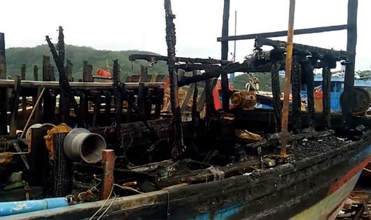 Chỉ trong nháy mắt, tất cả cơ sản của 4 ngư dân xã Phổ Quang đã tiêu tan