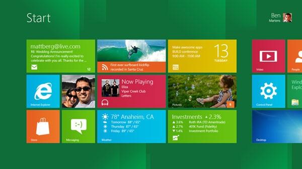 Windows 8 bao gồm một loạt tính năng mới