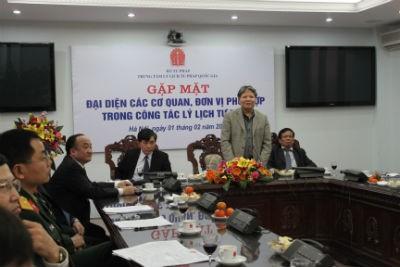 Bộ trưởng Hà Hùng Cường gặp mặt đại diện các cơ  quan, đơn vị phối hợp trong công tác lý lịch tư pháp