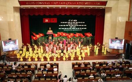 Toàn cảnh lễ kỷ niệm 83 năm Ngày thành lập Đảng Cộng sản Việt Nam