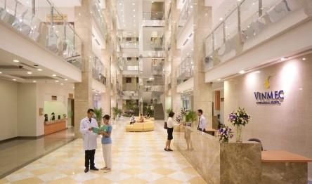 Bệnh viện Vinmec nằm trong dự án Times City đã đi vào hoạt động