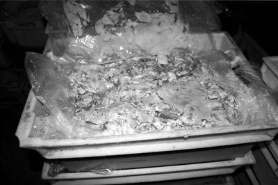 Thịt cừu giả vừa bị bắt giữ. Ảnh: China.org.cn