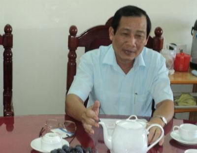 Ông Trương Minh Lưu tiếp xúc với PV