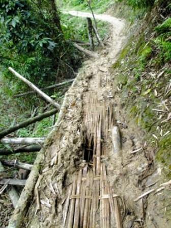 Đường vào làng Lao