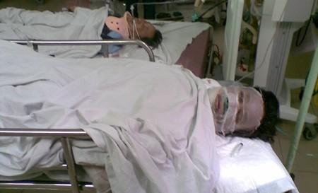 Vũ Duy Hiến đang được cấp cứu tại bệnh viện
