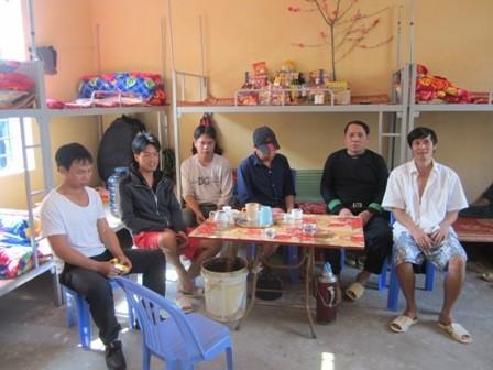 Các học viên đón Tết ở trại