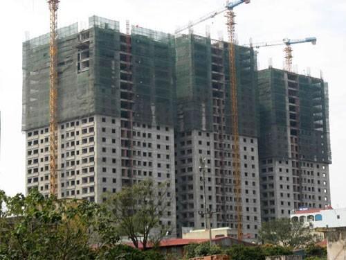 Một góc dự án chung cư Đại Thanh