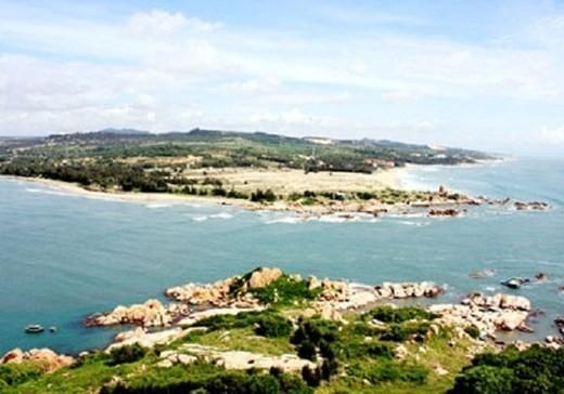 Địa điểm Vinacomin dự kiến xây dựng cảng Kê Gà. Ảnh: Báo NLVN