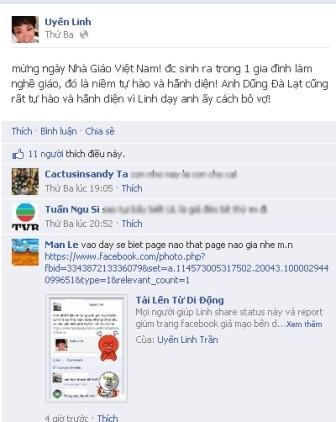 Mạo danh Uyên Linh để lập facebook phản văn hóa