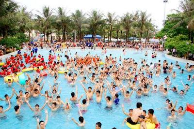 Dự kiến năm 2013, công viên nước Hồ Tây đón 800 nghìn lượt khách