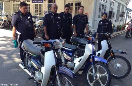 Những chiếc xe máy được băng cướp dùng để gây án.