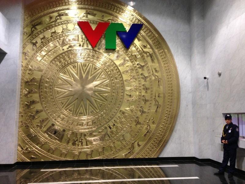 Phù điêu trống đồng Ngọc Lũ đã được lắp đặt hoàn thiện tại trường quay mới của Đài THVN