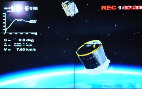 Vệ tinh VNREDSat-1 tách hoàn toàn khỏi tên lửa và đi vào quỹ đạo.