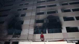 Hiện trường vụ hỏa hoạn tối 8.5.