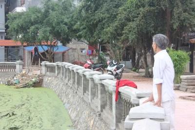 Phần kè móng của công trình ao Gồ thôn Thượng.