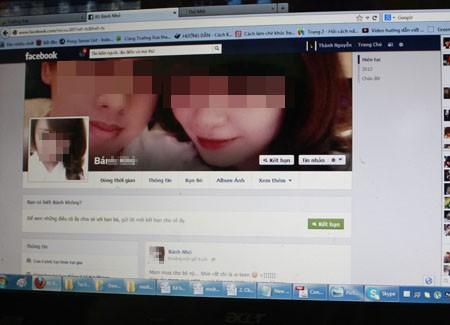 Một trang facebook đăng thông tin thiếu nữ bị rạch đùi