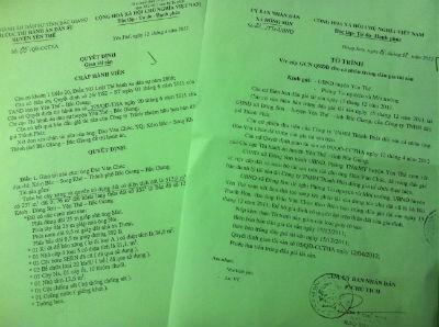 Thi hành án Dân sự huyện Yên Thế, UBND xã Đông Sơn khẳng định ông Chúc được quyền sử dụng 313m2 đất