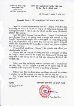 Văn bản của cơ quan công an cho hay, Nguyễn Việt Hải đã thừa nhận hành vi chiếm đoạt tiền của KVS
