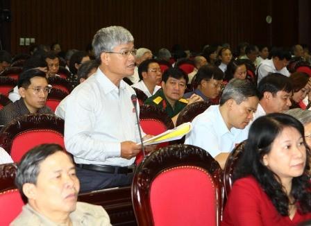 Đại biểu Quốc hội tỉnh Nam Định Nguyễn Anh Sơn phát biểu ý kiến