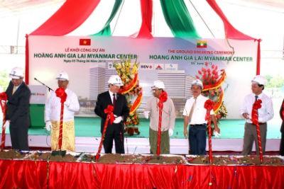 Khởi công Dự án Hoàng Anh Gia Lai Myanmar Center