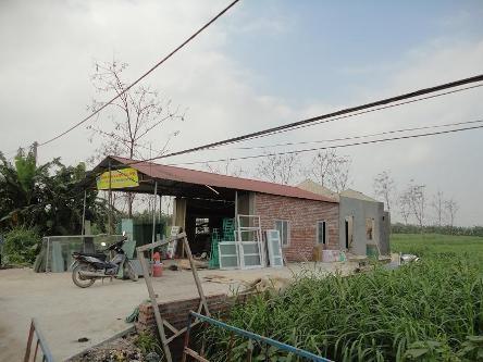 Một căn nhà được xây dựng trên đất nông nghiệp ở xã Vĩnh Thịnh