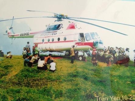 Chuyến bay MIA tại Trấn Yên do Tổng công ty Trực thăng Việt Nam thực hiện- ảnh tư liệu