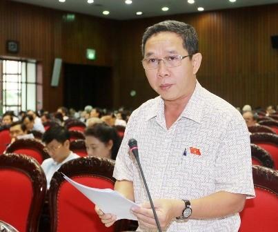 Đại biểu Quốc hội tỉnh Quảng Trị Ly Kiều Vân phát biểu ý kiến