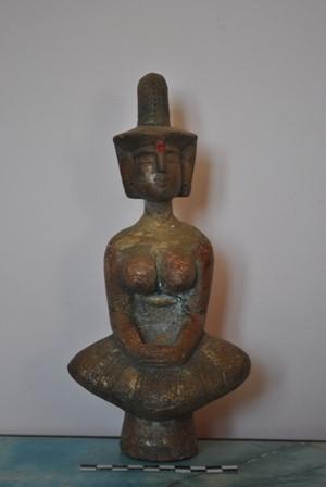 Pho tượng Bà được ngư dân phát hiện.