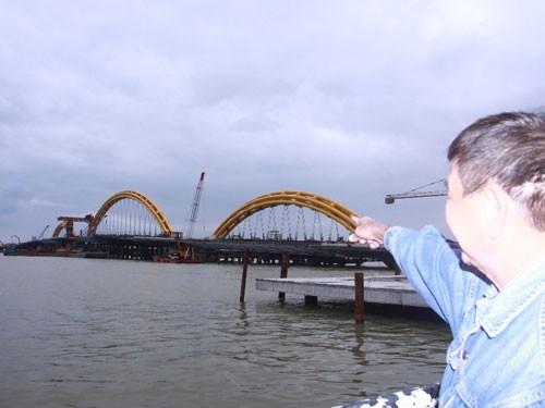 Đoạn sông Hàn nơi ngư dân phát hiện thi thể anh L.