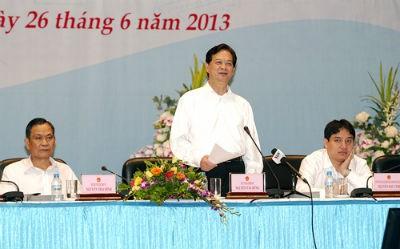 Thủ tướng Chính phủ Nguyễn Tấn Dũng chỉ đạo Hội nghị