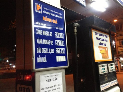 Giá xăng được Petrolimex thông báo điều chỉnh từ 20 giờ ngày 28/8.