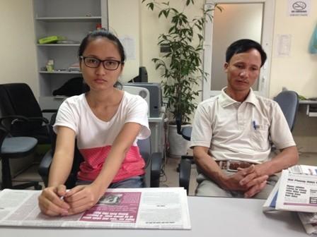 Cha và em gái của bị can Tô Văn Hỏa (ông Tô Văn Hán, chị Tô Thị Hoan).